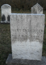 Mary Ensminger Headstone