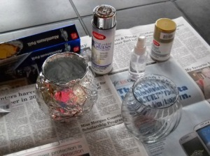 Supplies for DIY Mercury Glass
