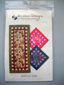 Waffle Time Table runner pattern