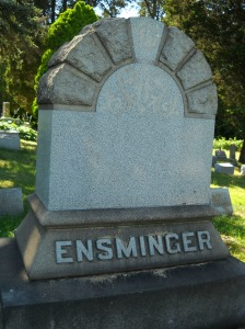 The Ensminger family plot in South Cemetery, Butler, Pa.
